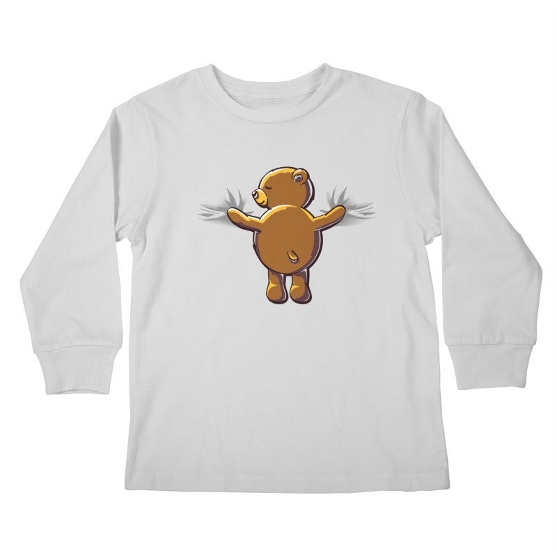 Bear Hug Kids Longsleeve T-Shirt by kellabell9