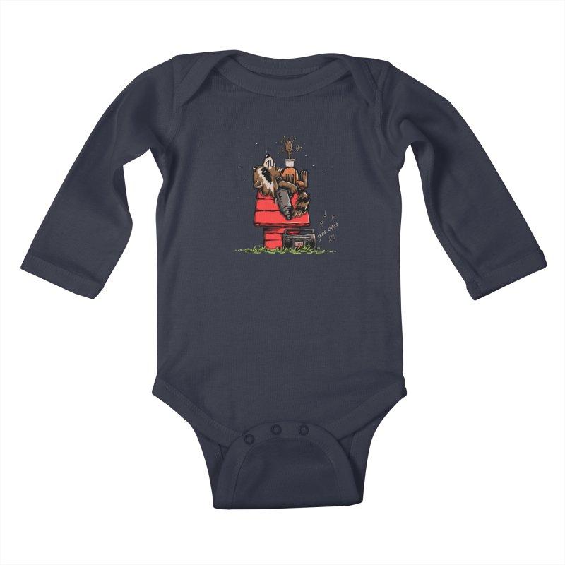 Peanut Guardians Kids Baby Longsleeve Bodysuit by kellabell9
