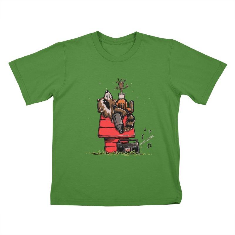 Peanut Guardians Kids T-Shirt by kellabell9