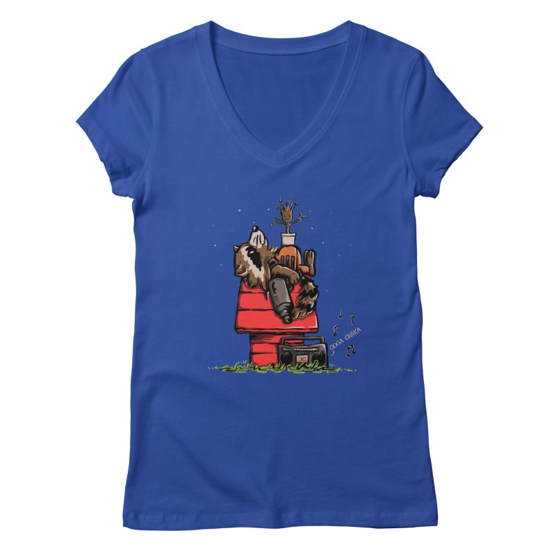 Peanut Guardians Women's V-Neck by kellabell9