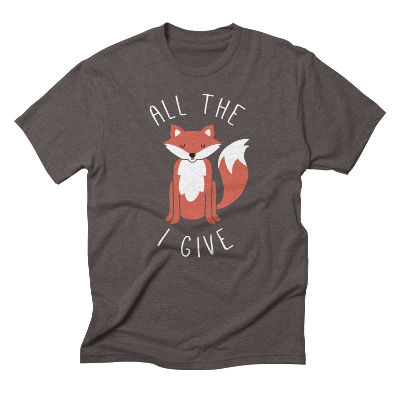 All the Fox Men's Triblend T-Shirt by kellabell9
