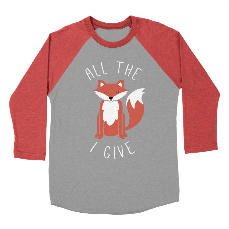 All the Fox Women's Baseball Triblend T-Shirt by kellabell9