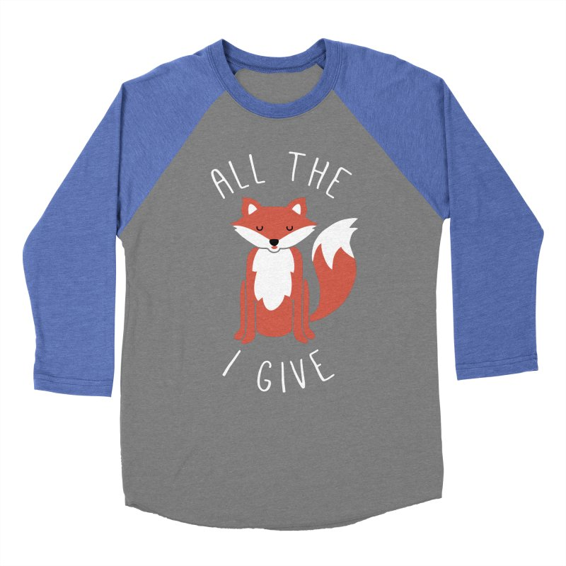 All the Fox Men's Baseball Triblend T-Shirt by kellabell9