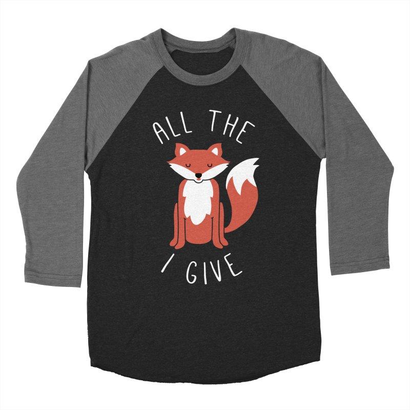 All the Fox Men's Baseball Triblend T-Shirt by kellabell9