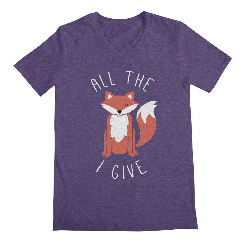 All the Fox Men's Regular V-Neck by kellabell9