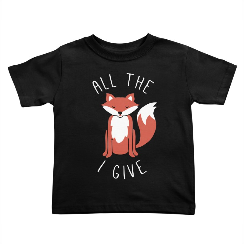 All the Fox Kids Toddler T-Shirt by kellabell9