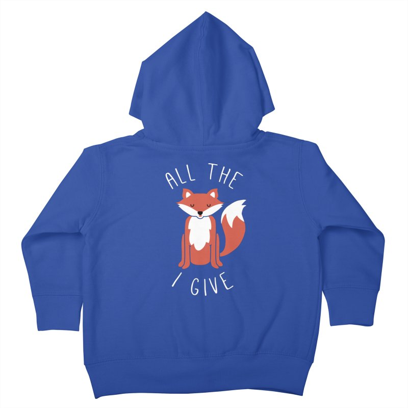 All the Fox Kids Toddler Zip-Up Hoody by kellabell9