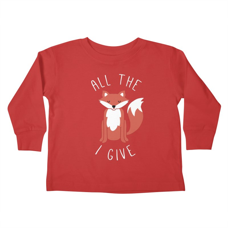 All the Fox Kids Toddler Longsleeve T-Shirt by kellabell9