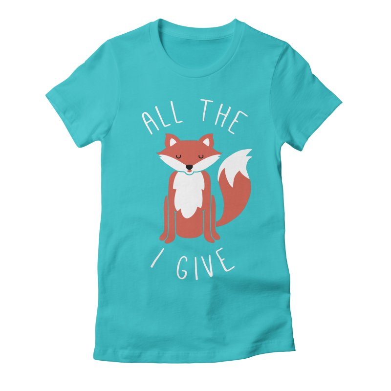 All the Fox Women's Fitted T-Shirt by kellabell9