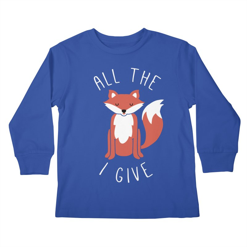 All the Fox Kids Longsleeve T-Shirt by kellabell9