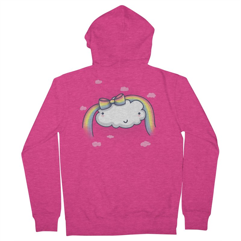 Rainbow's Bow Women's French Terry Zip-Up Hoody by kellabell9