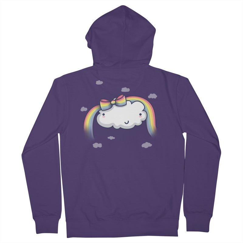 Rainbow's Bow Women's Zip-Up Hoody by kellabell9