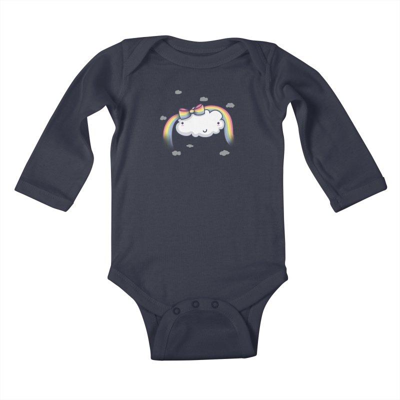 Rainbow's Bow Kids Baby Longsleeve Bodysuit by kellabell9
