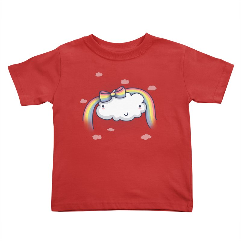 Rainbow's Bow Kids Toddler T-Shirt by kellabell9