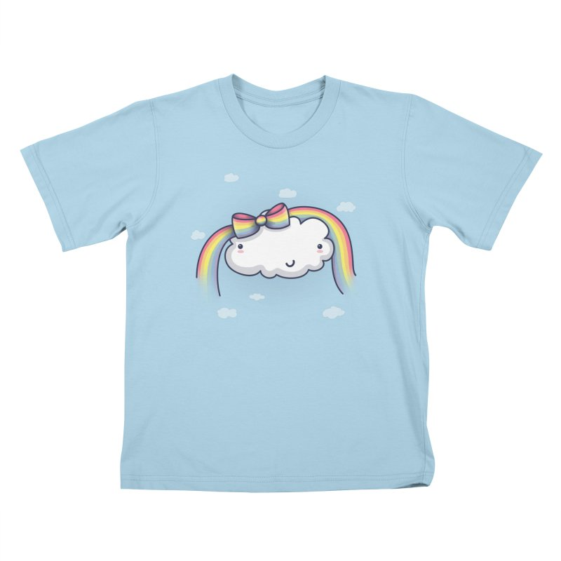 Rainbow's Bow Kids T-Shirt by kellabell9