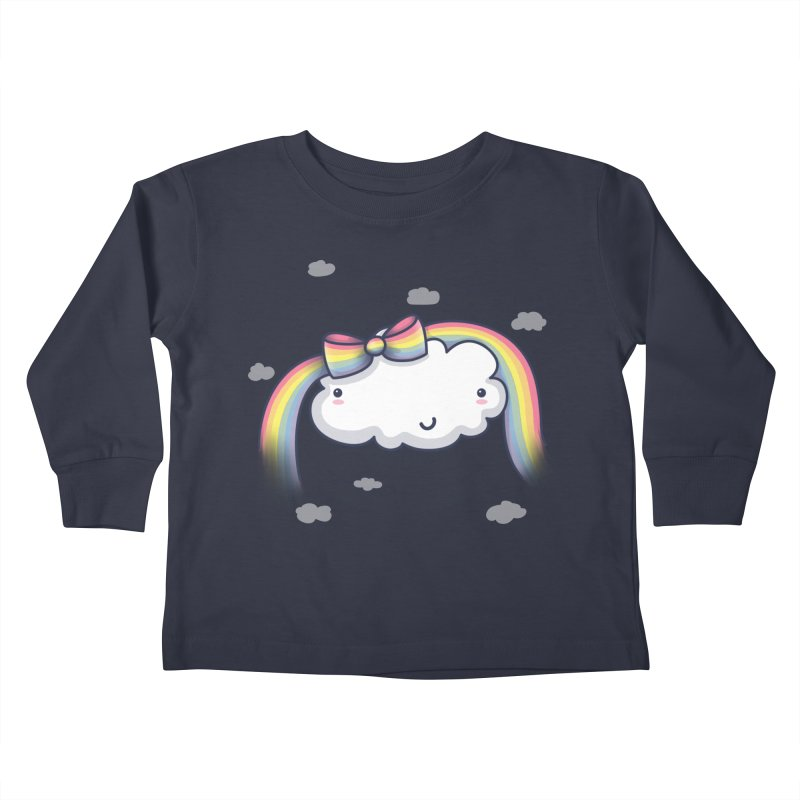 Rainbow's Bow Kids Toddler Longsleeve T-Shirt by kellabell9