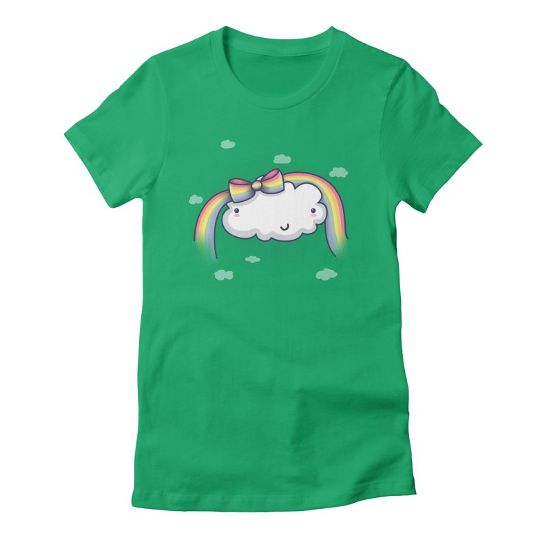 Rainbow's Bow Women's Fitted T-Shirt by kellabell9