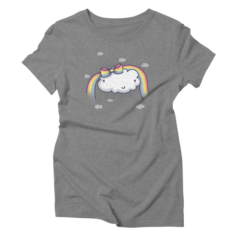 Rainbow's Bow Women's Triblend T-Shirt by kellabell9