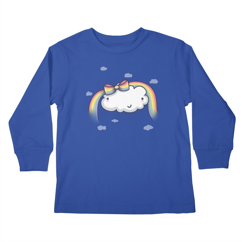 Rainbow's Bow Kids Longsleeve T-Shirt by kellabell9