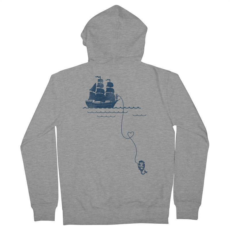 Love Distance Love Men's French Terry Zip-Up Hoody by kellabell9