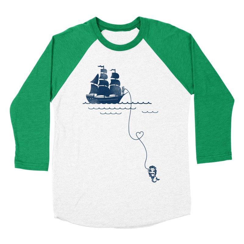 Love Distance Love Men's Baseball Triblend T-Shirt by kellabell9