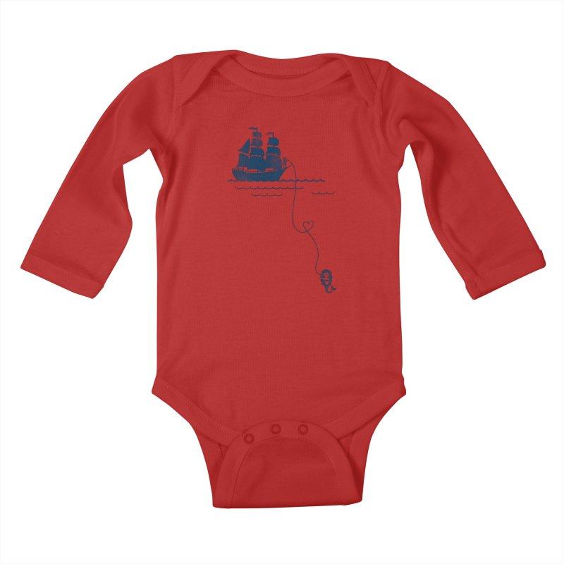 Love Distance Love Kids Baby Longsleeve Bodysuit by kellabell9