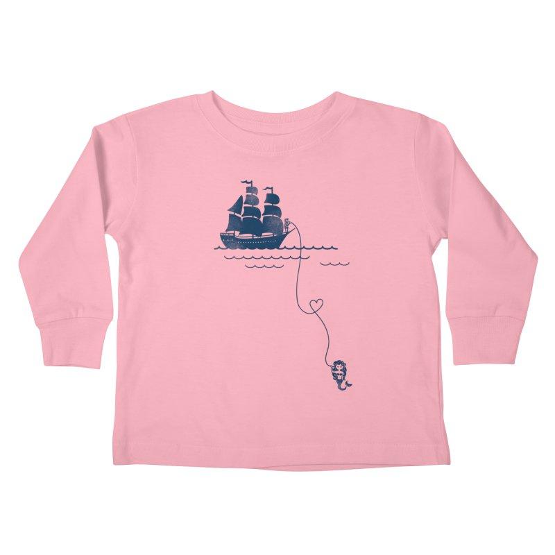 Love Distance Love Kids Toddler Longsleeve T-Shirt by kellabell9
