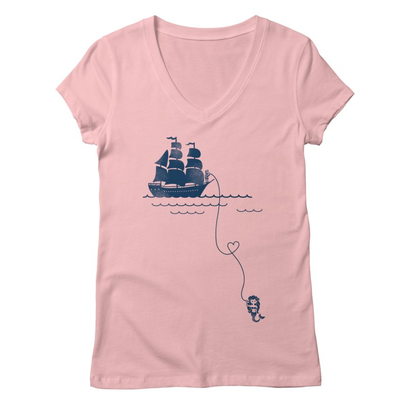 Love Distance Love Women's V-Neck by kellabell9