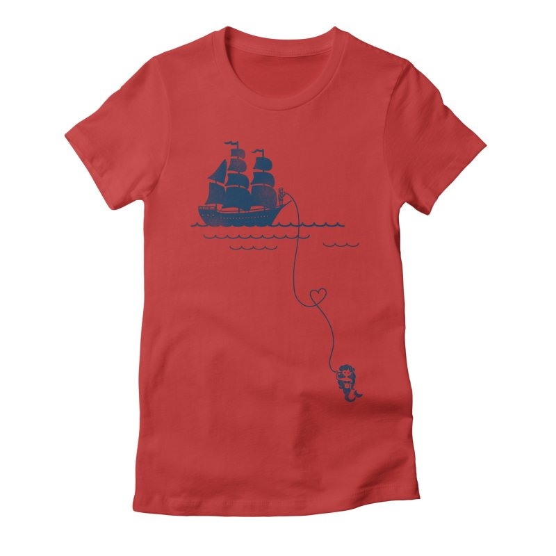 Love Distance Love Women's Fitted T-Shirt by kellabell9