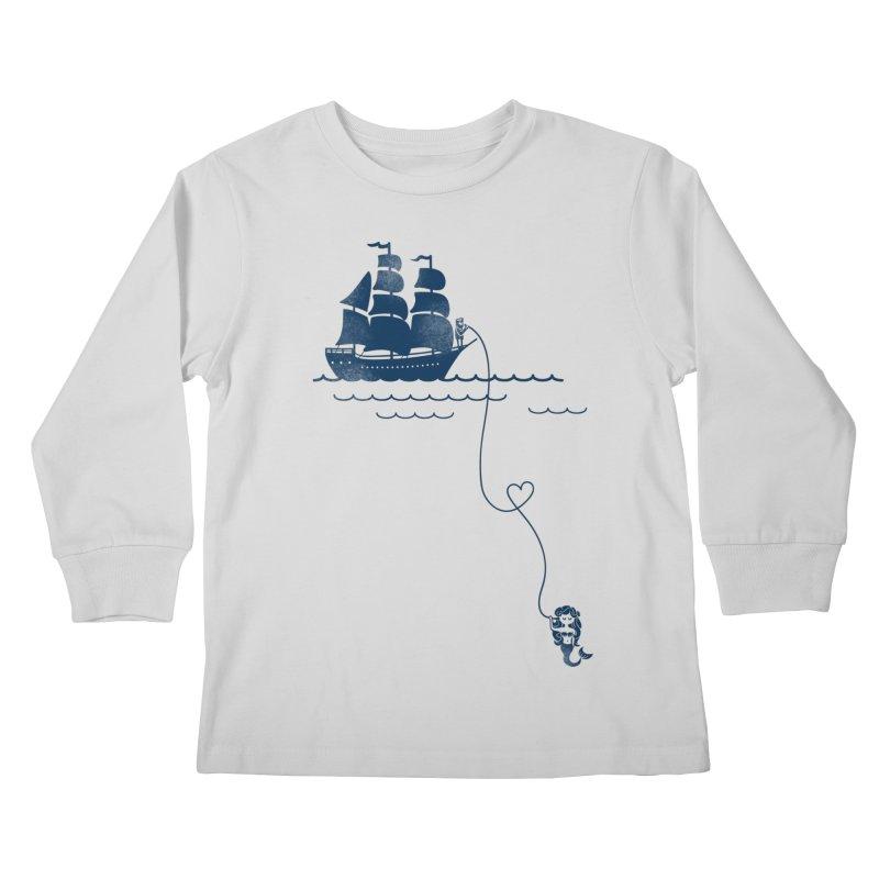 Love Distance Love Kids Longsleeve T-Shirt by kellabell9