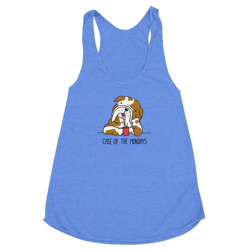 Case of the Mondays Women's Racerback Triblend Tank by kellabell9