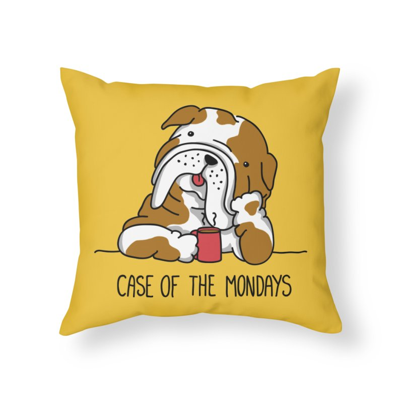 Case of the Mondays Home Throw Pillow by kellabell9
