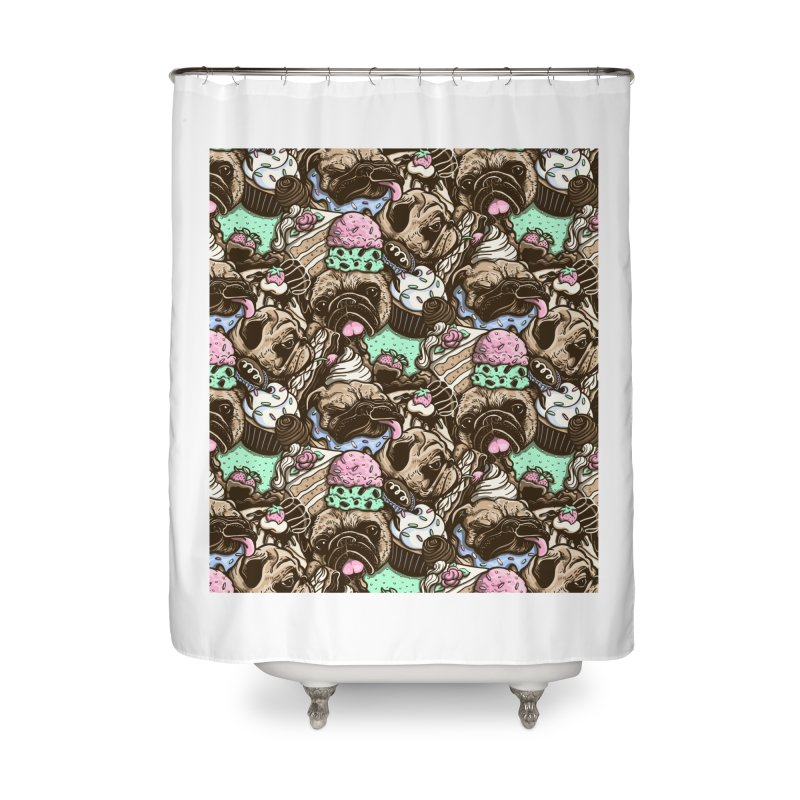 Dogs and Desserts Home Shower Curtain by kellabell9