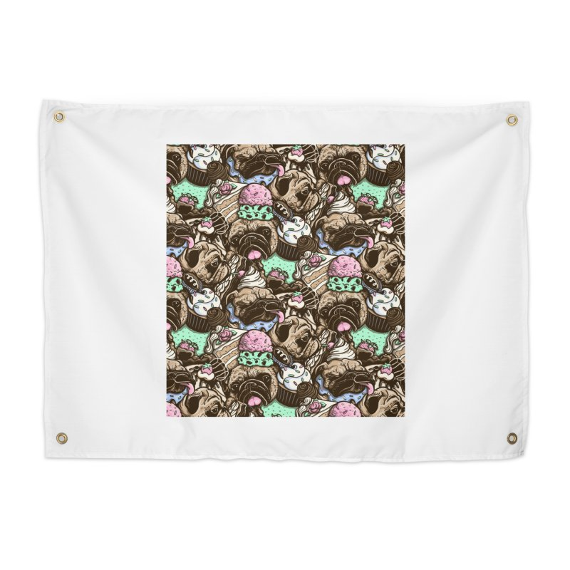 Dogs and Desserts Home Tapestry by kellabell9