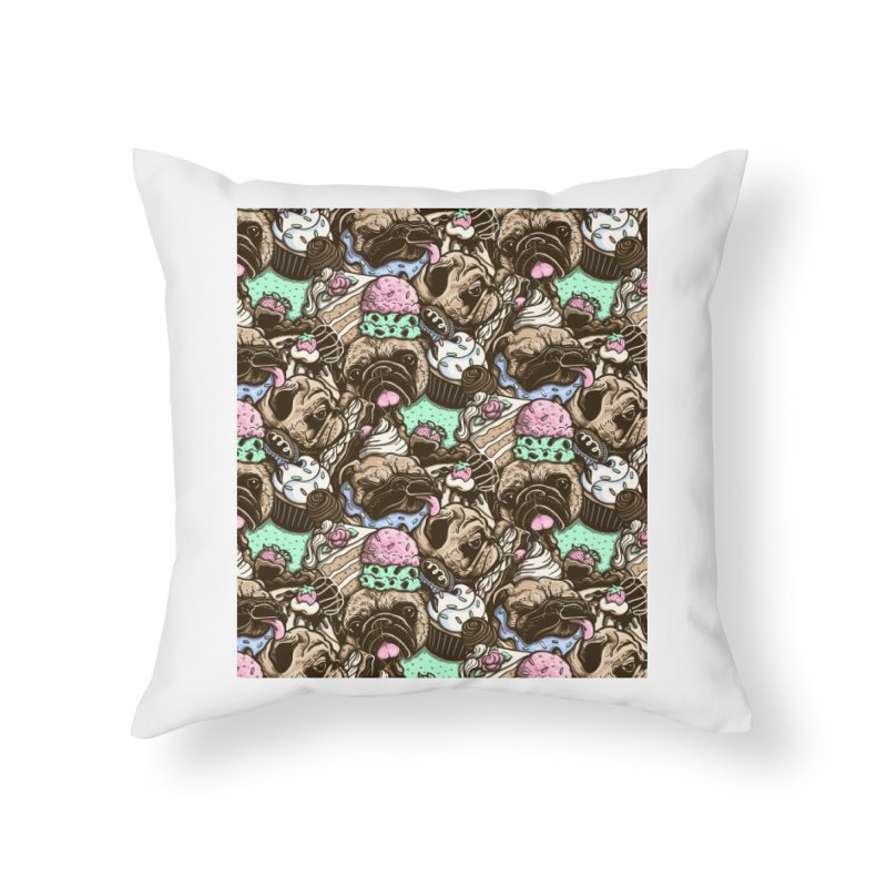 Dogs and Desserts Home Throw Pillow by kellabell9