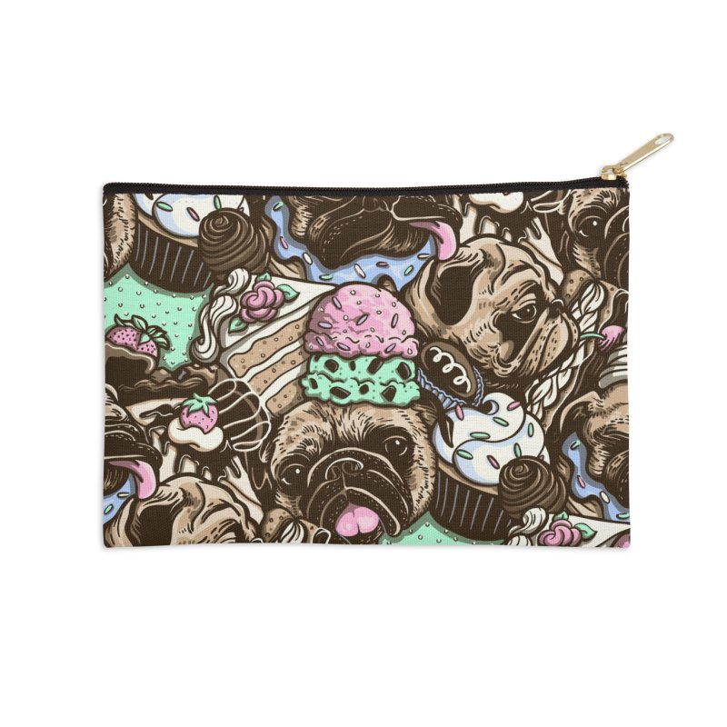 Dogs and Desserts Accessories Zip Pouch by kellabell9