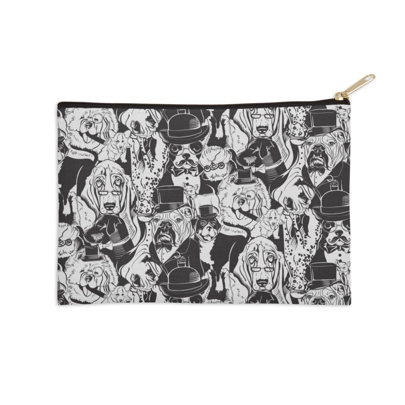 Dapper Dogs Accessories Zip Pouch by kellabell9