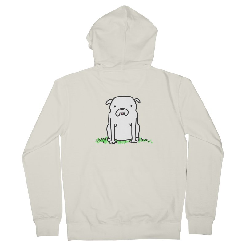 Dog Doodle Men's French Terry Zip-Up Hoody by kellabell9