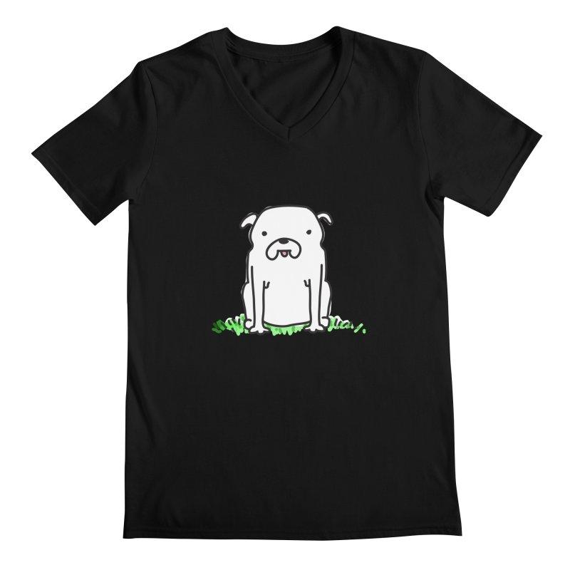Dog Doodle Men's Regular V-Neck by kellabell9