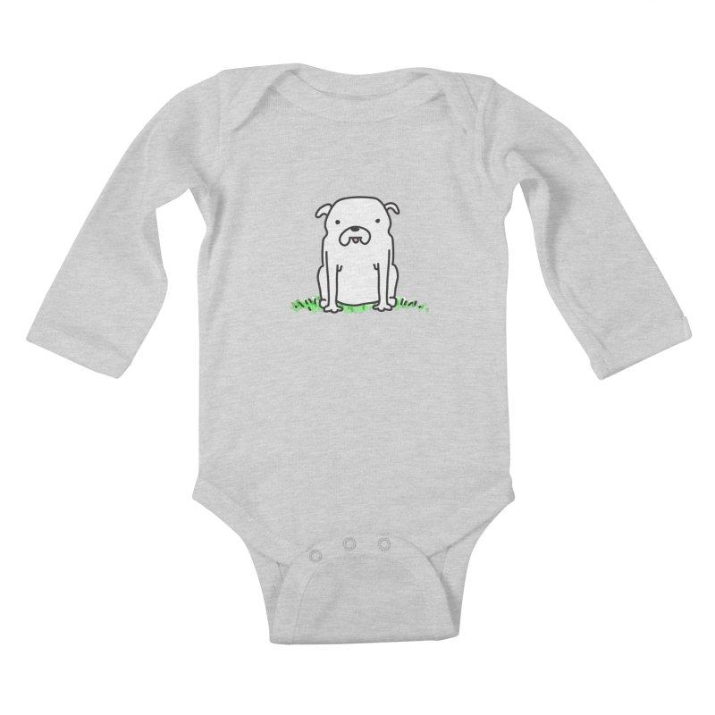 Dog Doodle Kids Baby Longsleeve Bodysuit by kellabell9