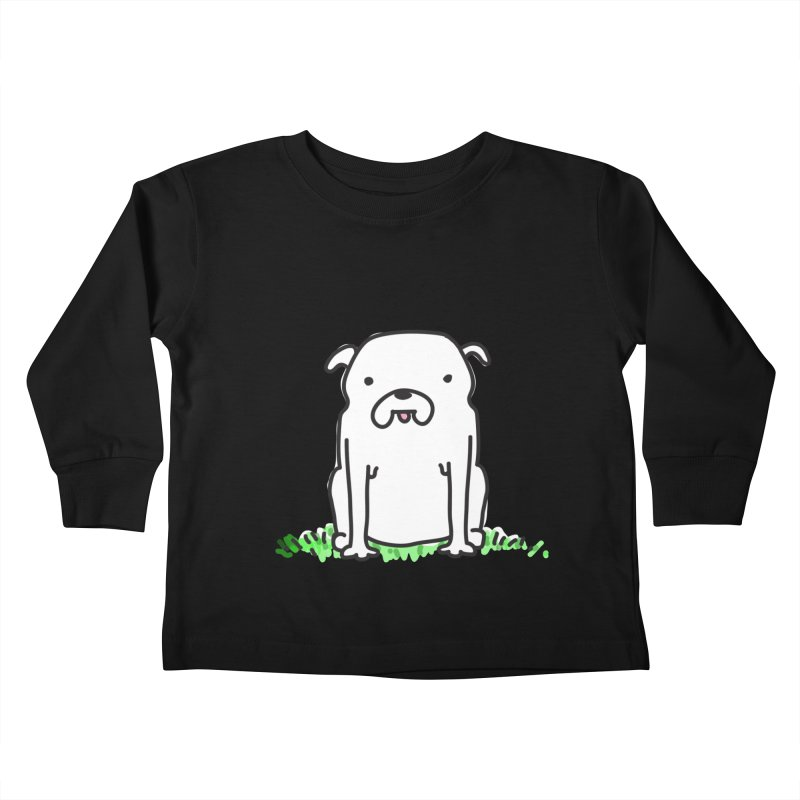 Dog Doodle Kids Toddler Longsleeve T-Shirt by kellabell9