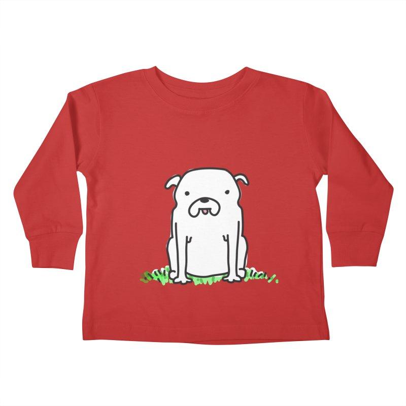 Dog Doodle Kids Toddler Longsleeve T-Shirt by kellabell9