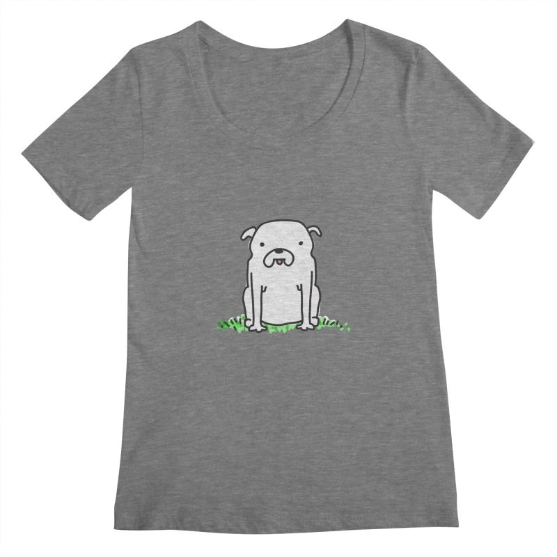 Dog Doodle Women's Scoopneck by kellabell9