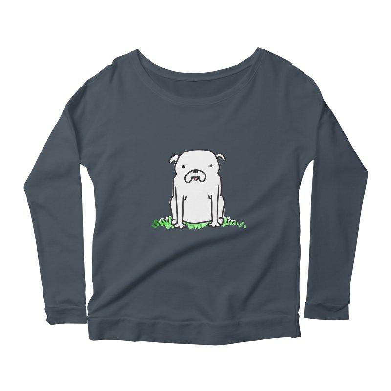 Dog Doodle Women's Scoop Neck Longsleeve T-Shirt by kellabell9