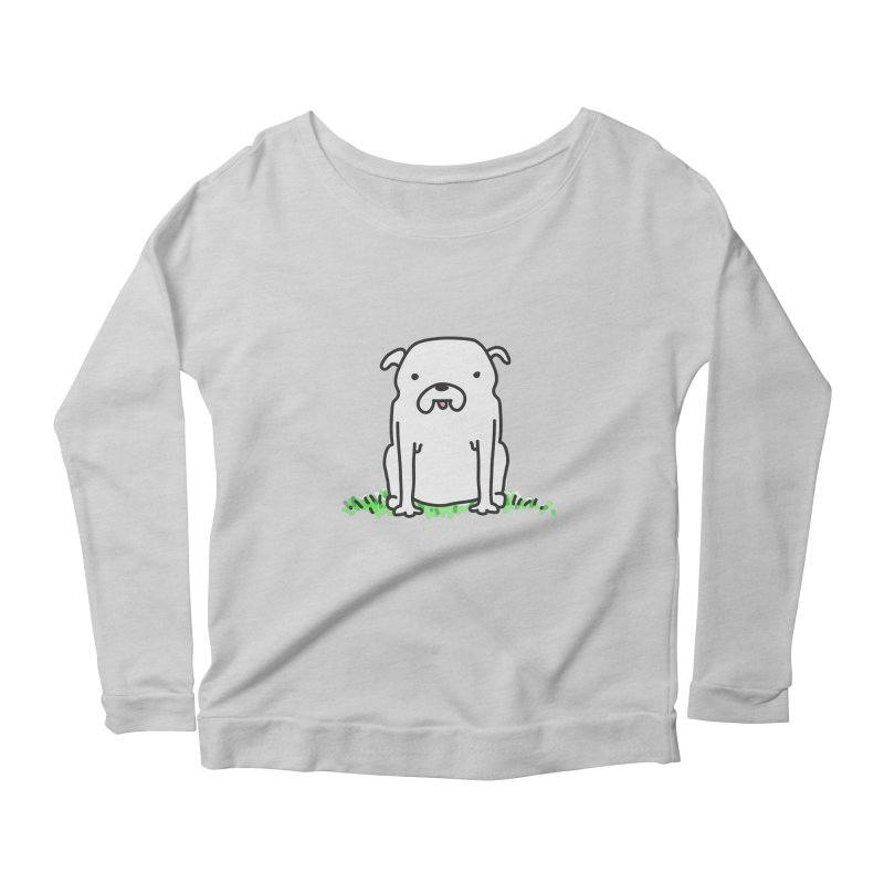 Dog Doodle Women's Scoop Neck Longsleeve T-Shirt by kellabell9
