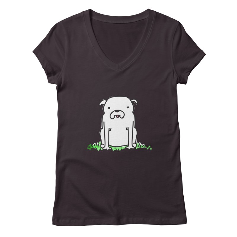 Dog Doodle Women's V-Neck by kellabell9