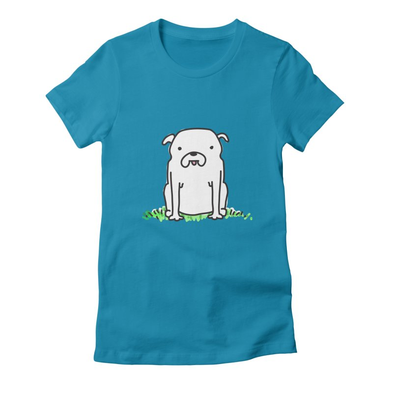 Dog Doodle Women's Fitted T-Shirt by kellabell9