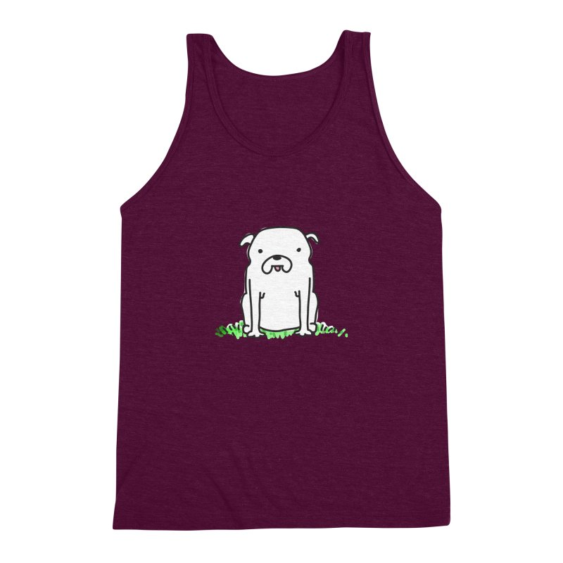 Dog Doodle Men's Triblend Tank by kellabell9
