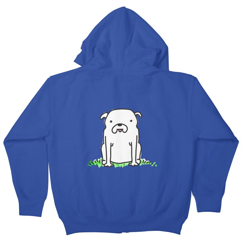 Dog Doodle Kids Zip-Up Hoody by kellabell9