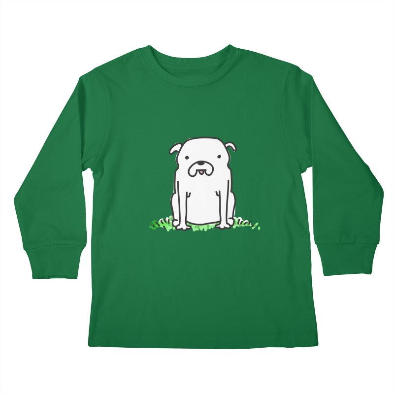 Dog Doodle Kids Longsleeve T-Shirt by kellabell9